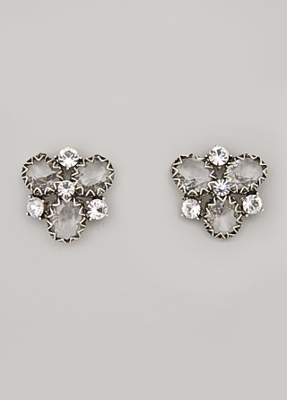 Badgley Mischka Crystal Cluster Earrings
