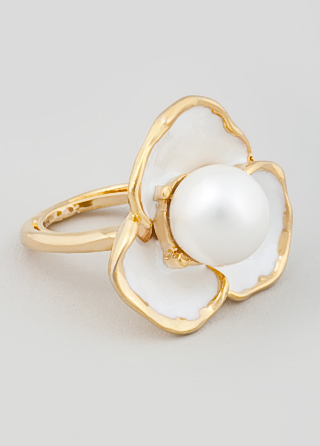 Kenneth Jay Lane Pure Flower Power Ring