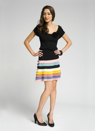 Catherine Malandrino Striped Skirt Knit Dress