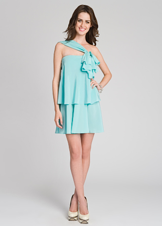 Moschino Newly Minted Shoulder Dress