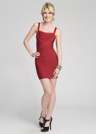 Herve Leger Spicy Square Neck Dress