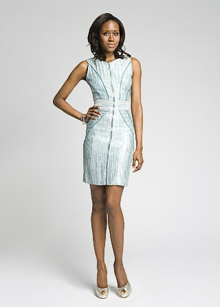 Christian Siriano Futuristic Zip Up Dress