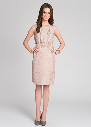 Ports 1961 Pale Textured Tank Dress