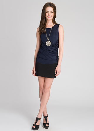 Doo.ri Draped Bodice Dress