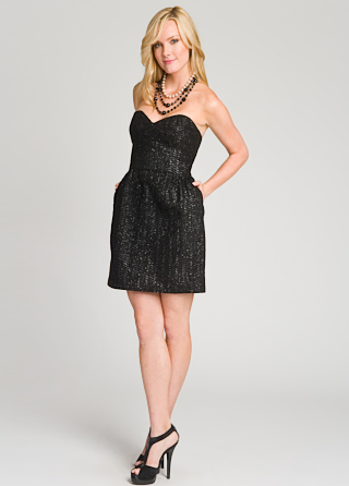 Milly Tweed Sparkle Sweetheart Dress