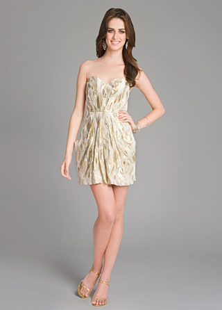 Twelfth Street by Cynthia Vincent Metallic Mesmerizer Dress